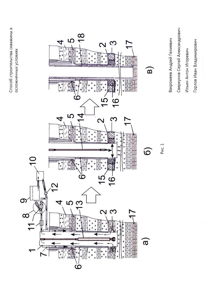 Способ строительства скважины в осложненных условиях