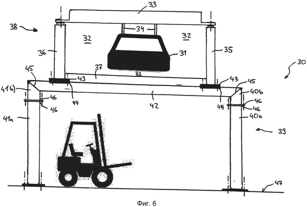 Транспортировочное устройство верхнего расположения с колонными порталами
