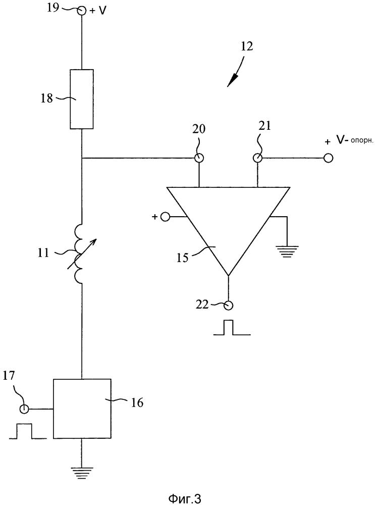 Способ и узел датчика положения для определения взаимного положения между первым объектом и вторым объектом