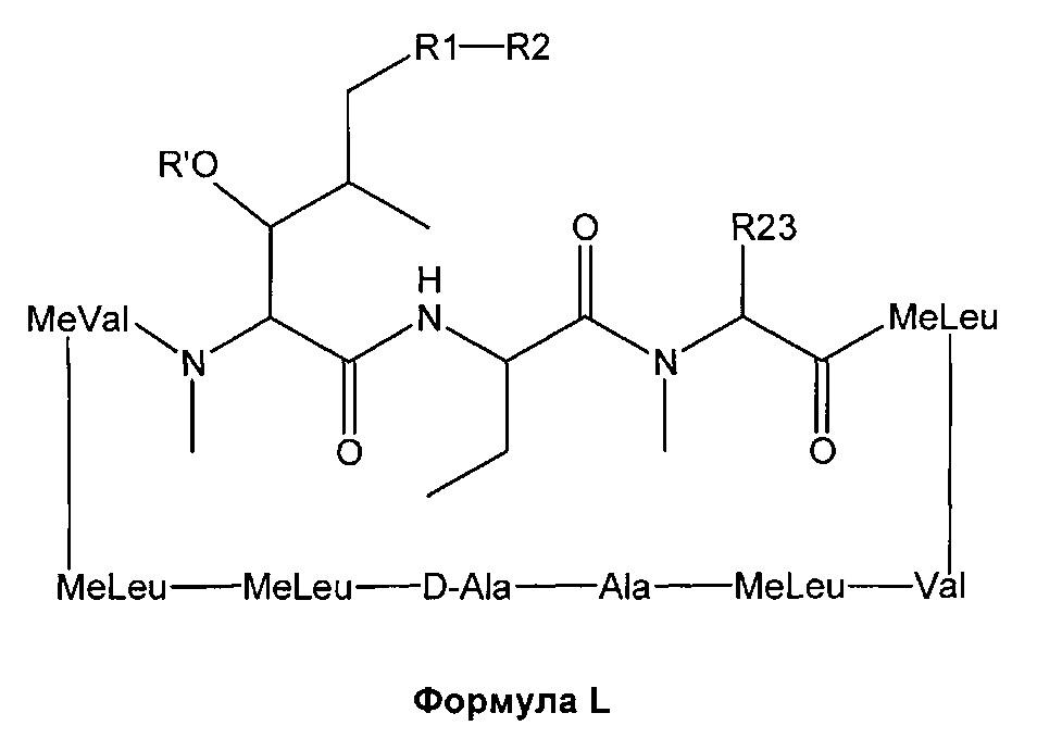 Молекулы аналогов циклоспорина, модифицированные по 1 и 3 аминокислоте