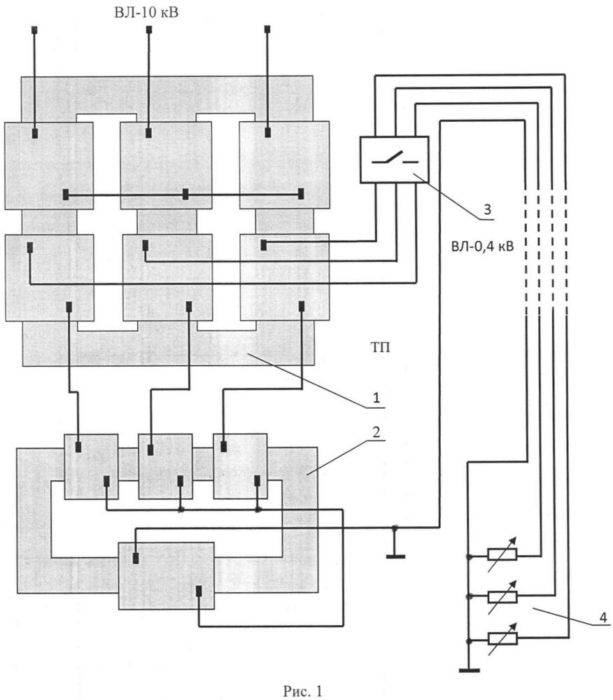 Устройство нейтрализации уравнительного тока в нулевой шине трёхфазной линии электропередачи