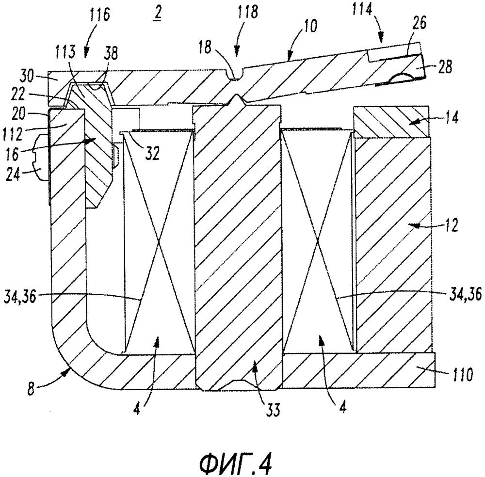 Электрическое переключающее устройство и реле, включающее в себя ферромагнитный или магнитный якорь, имеющий конусообразный участок