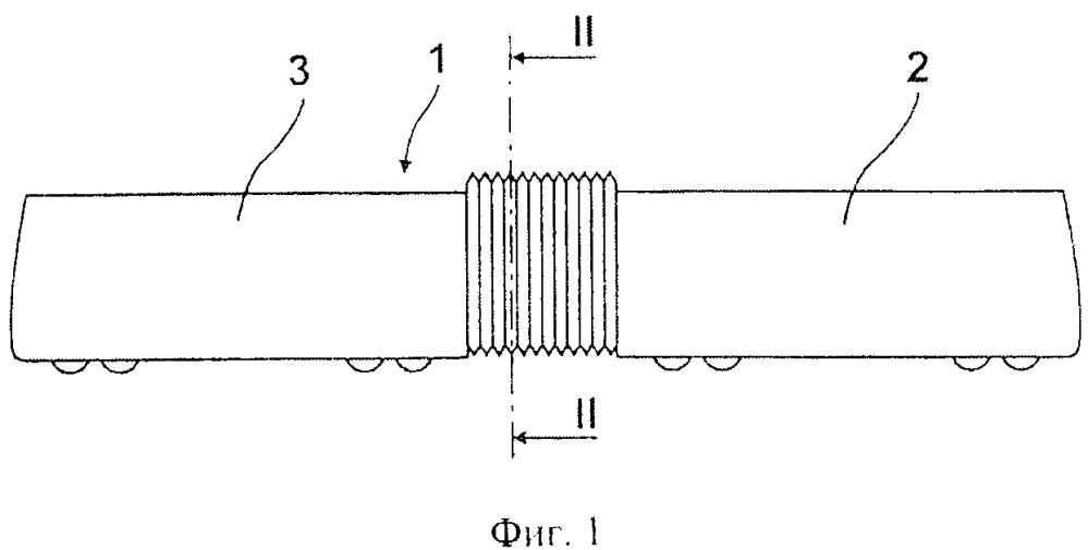 Гофрированная боковая защитная перегородка между двумя шарнирно соединенными частями транспортного средства, устанавливаемая на шарнирно соединенных частях транспортного средства