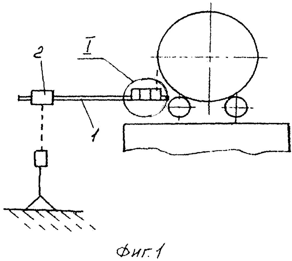 Измерительное устройство для горячей выверки положения оси вращающейся печи