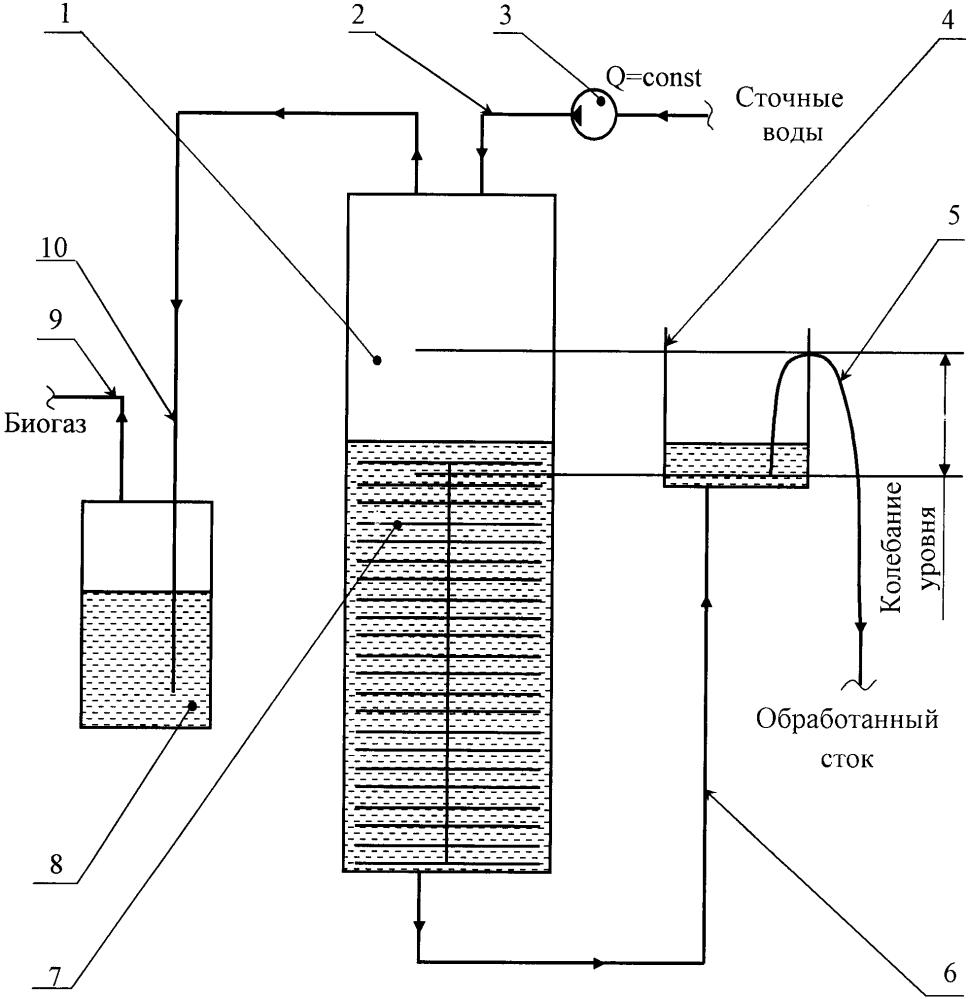 Анаэробный фильтр с сифонным отводом