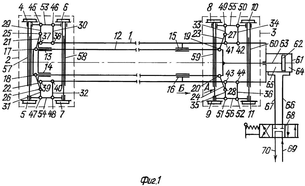 Устройство для перевода колесных пар с одной колеи на другую