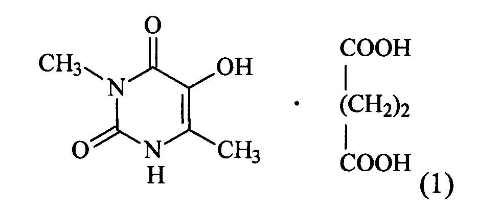Комплексное соединение 5-гидрокси-3,6-диметилурацила с янтарной кислотой, проявляющее мембраностабилизирующую активность, и способ его получения