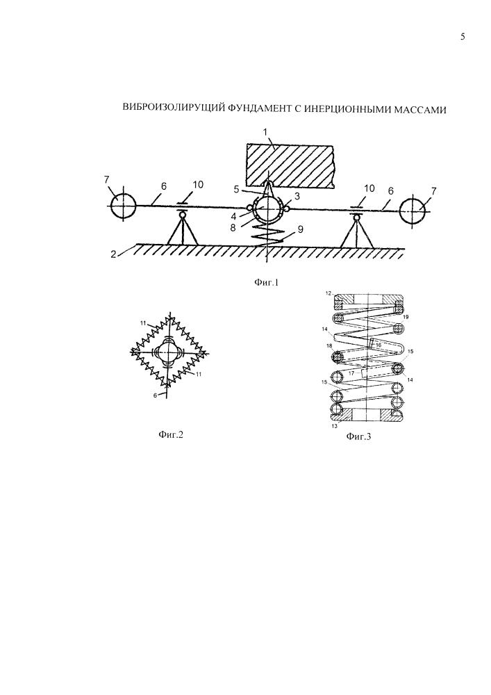 Виброизолирущий фундамент с инерционными массами
