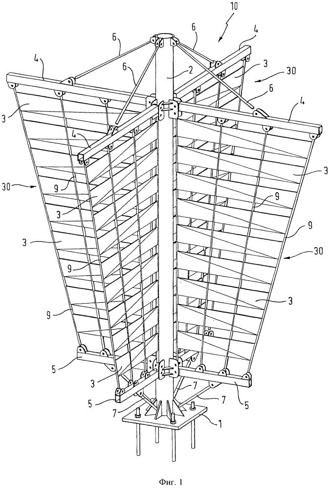 Элемент изменения направления бокового ветра для предотвращения седиментации