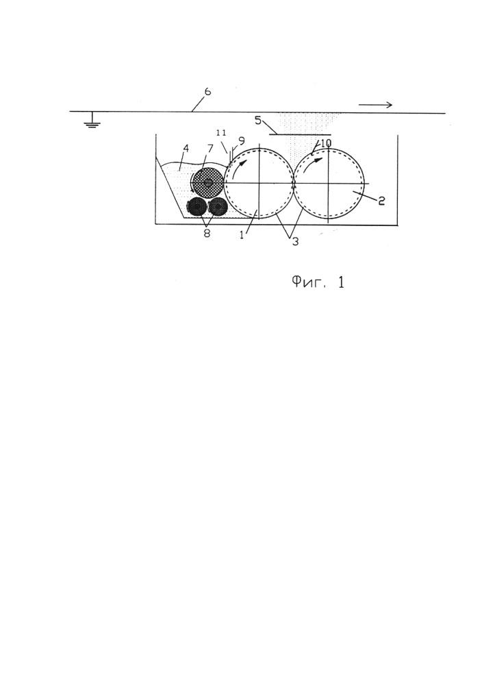 Устройство для нанесения покрытий из порошкообразных материалов на металлическую полосу