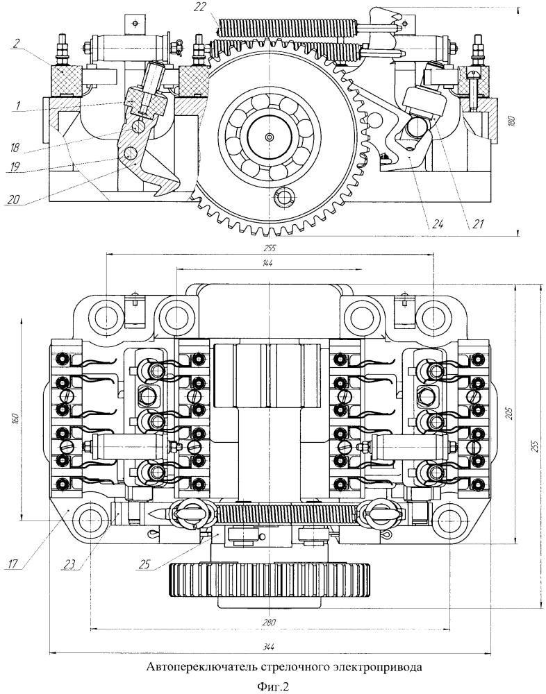 Контактная система автопереключателя с плавающими ножами