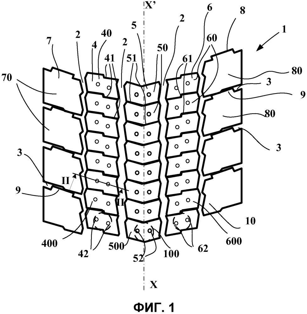 Протектор для шины ведущей колесной оси большегрузного транспортного средства и шина