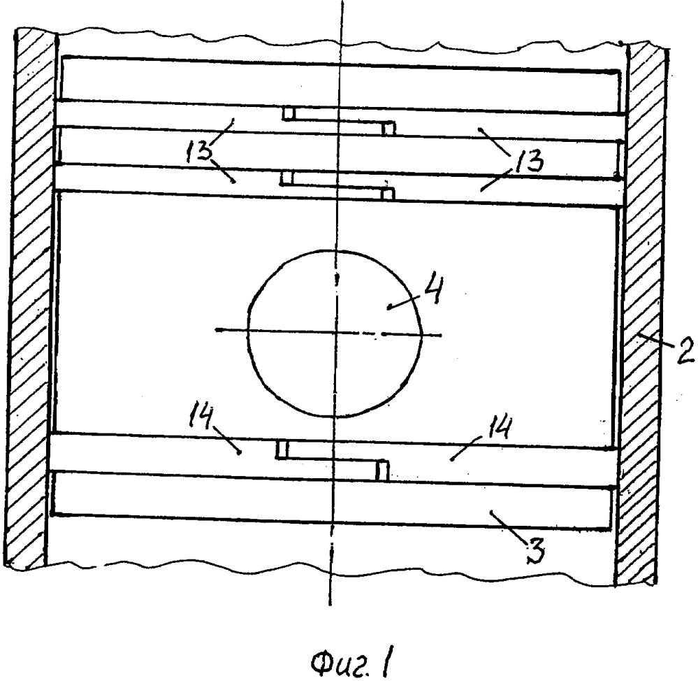 Кривошипно-шатунный механизм с прямоугольным поршнем