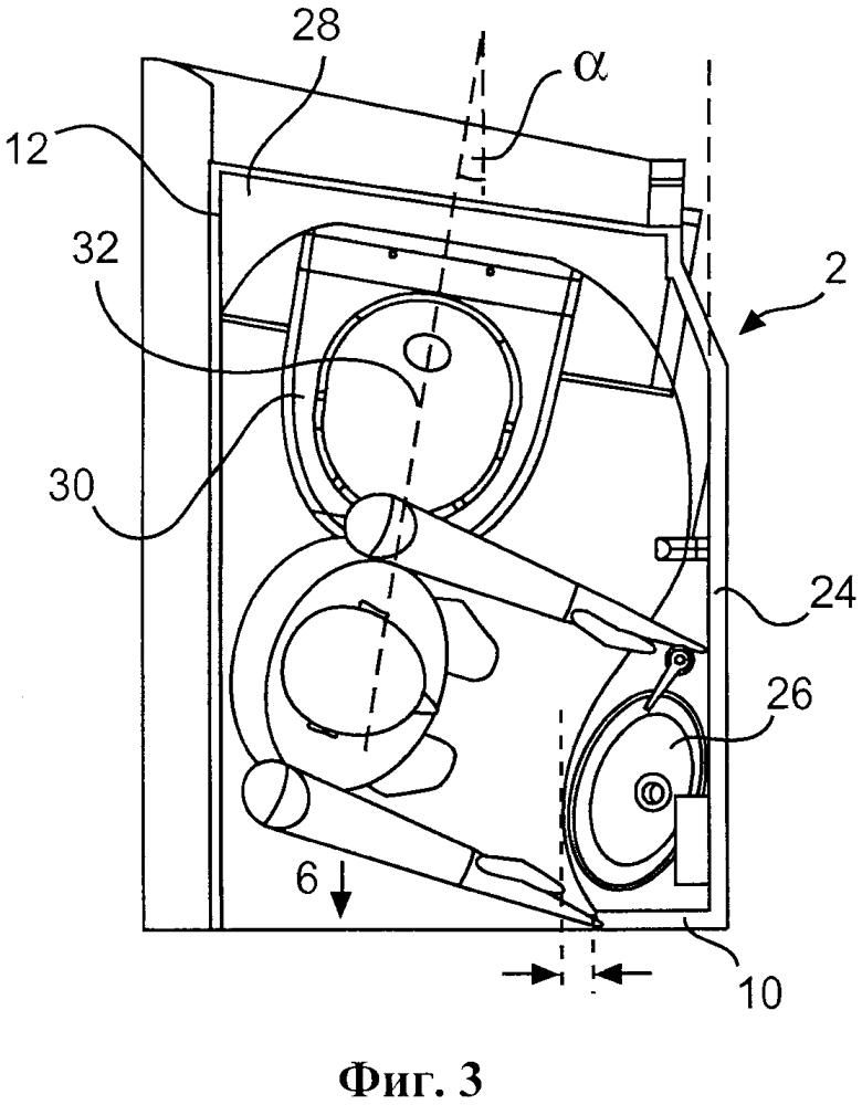 Туалетный модуль для транспортного средства и транспортное средство с пассажирским салоном и туалетным модулем