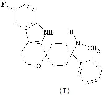 Лекарственная дозированная форма, которая содержит 6-фтор-(n-метил-или n, n-диметил-)-4-фенил-4, 9-дигидро-3 н-спиро[циклогексан-1, 1-пирано[3, 4, b] индол]-4-амин для лечения ноцицептивной боли