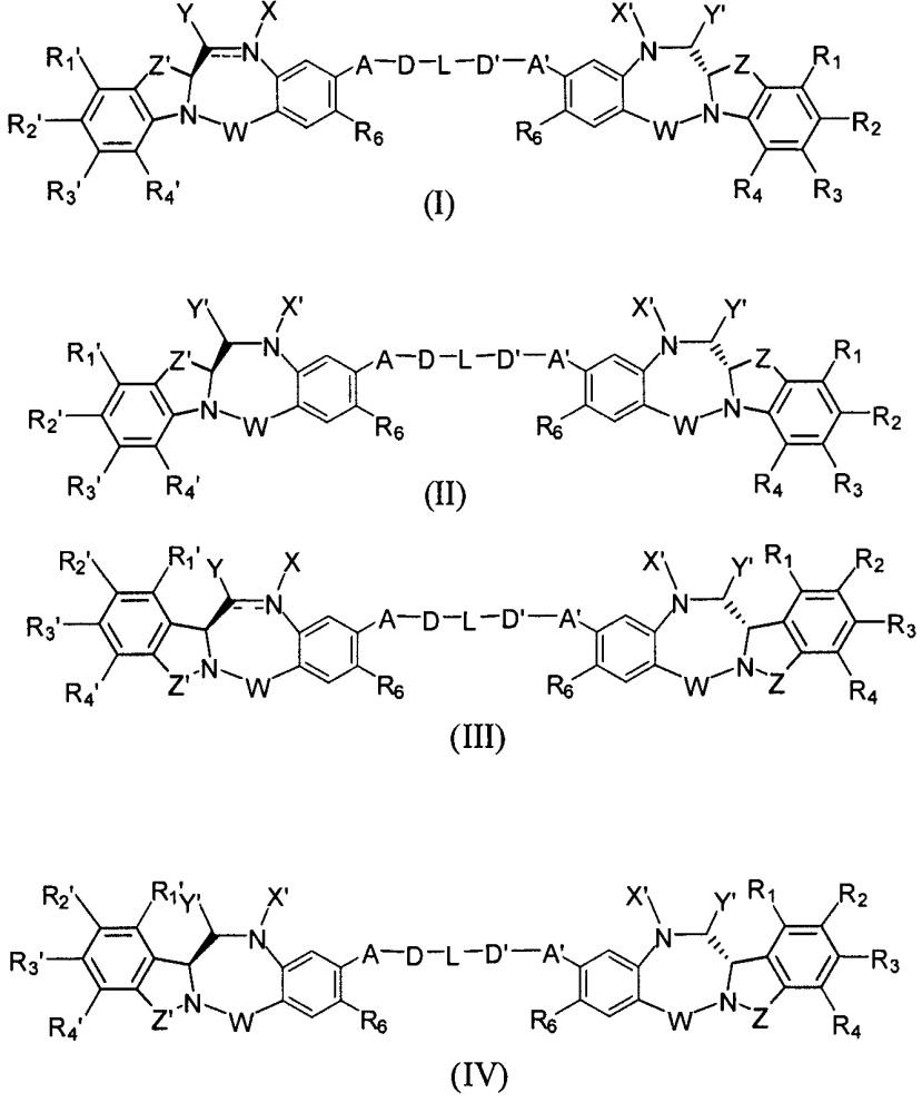 Цитотоксические производные бензодиазепина