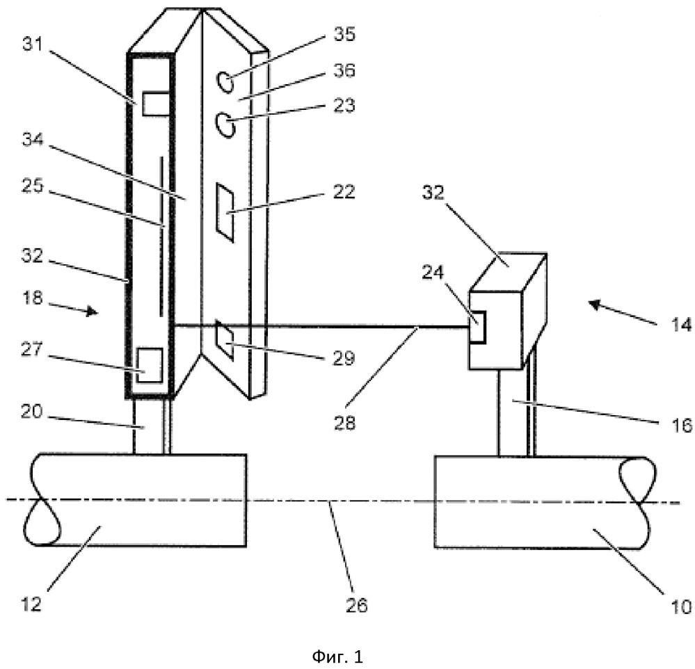 Устройство для определения положения механических элементов относительно друг друга