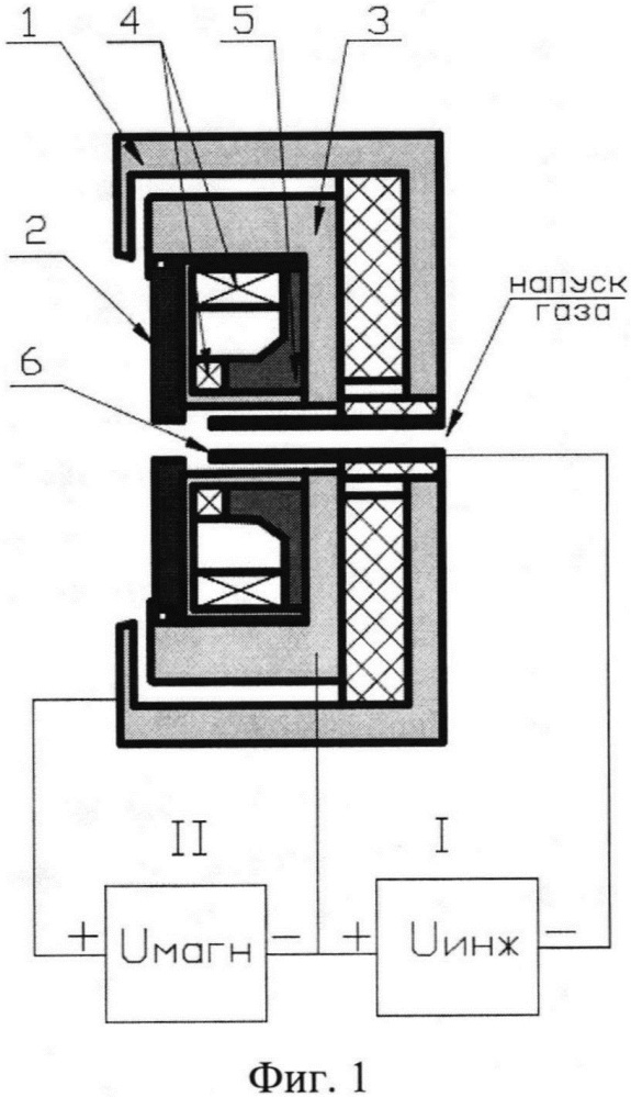 Магнетронная распылительная система с инжекцией электронов