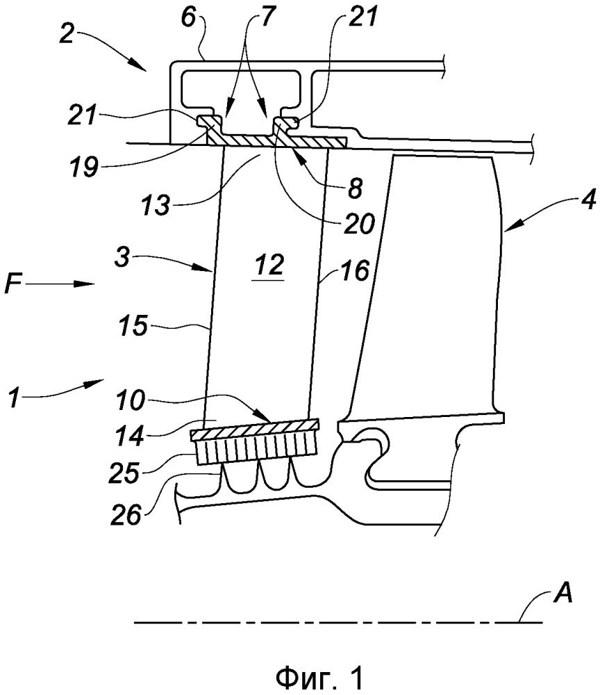 Направляющий аппарат компрессора для турбомашины