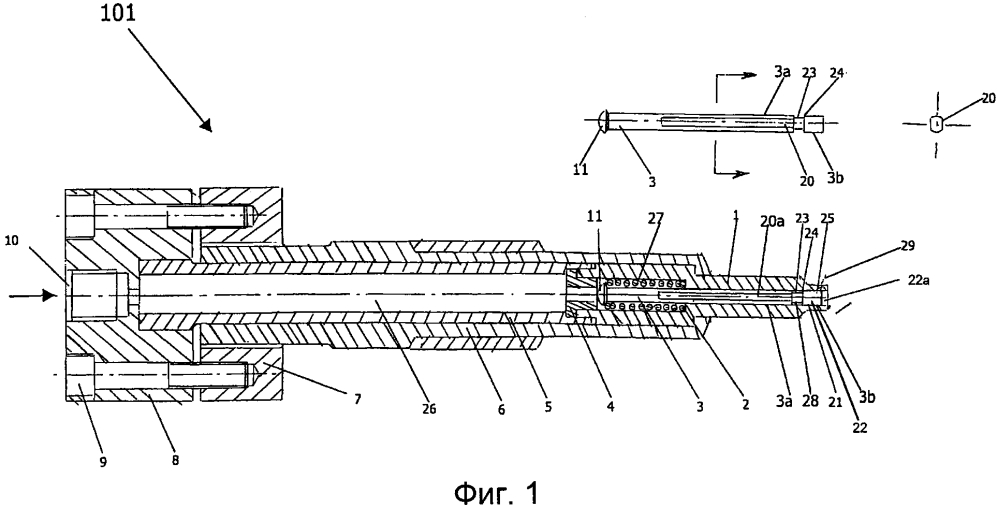 Инжекторная форсунка для впрыскивания смазочного масла в цилиндры двигателя и ее применение