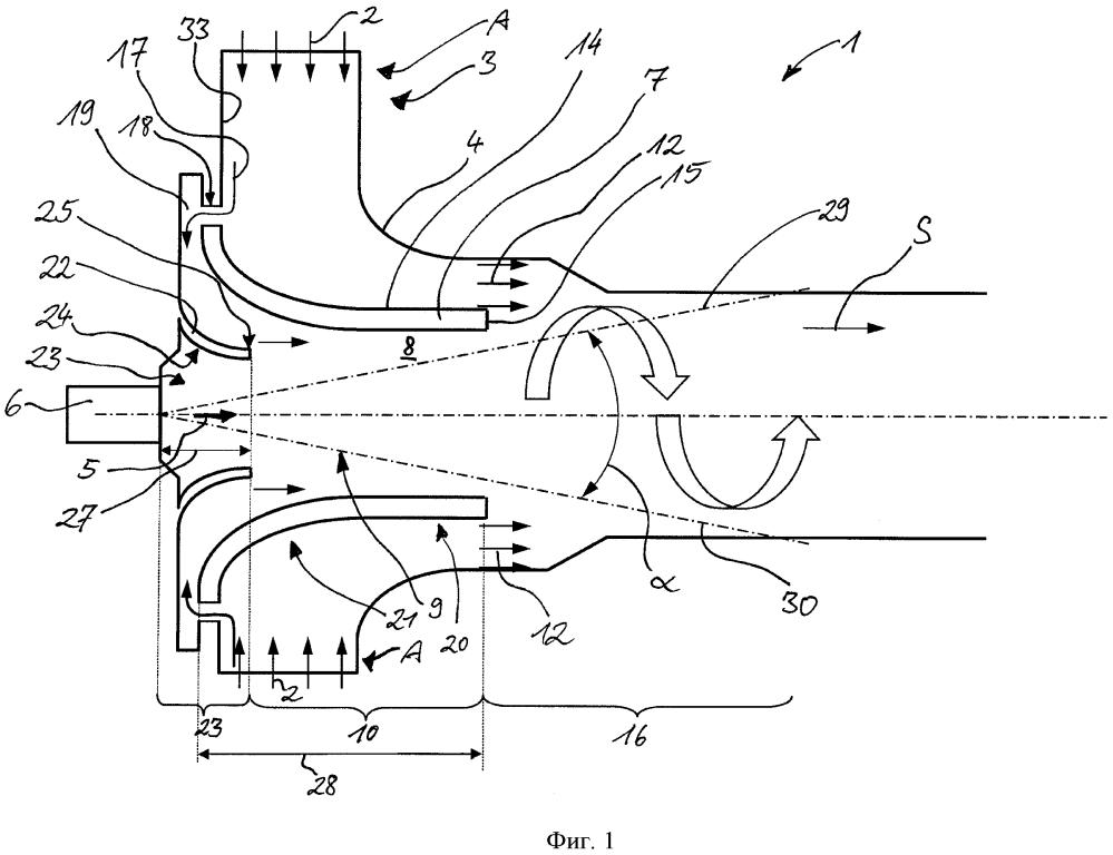Смесительное устройство для последующей обработки отработавших газов