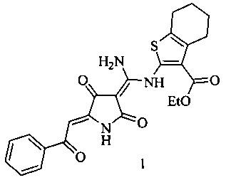 Этиловый эфир 2-(((z)-амино((z)-2,4-диоксо-5-(2-оксо-2-фенилэтилиден)пирролидин-3-илиден)метил)амино)-4,5,6,7-тетрагидробензо[b]тиофенкарбоновой кислоты, обладающий анальгетической активностью