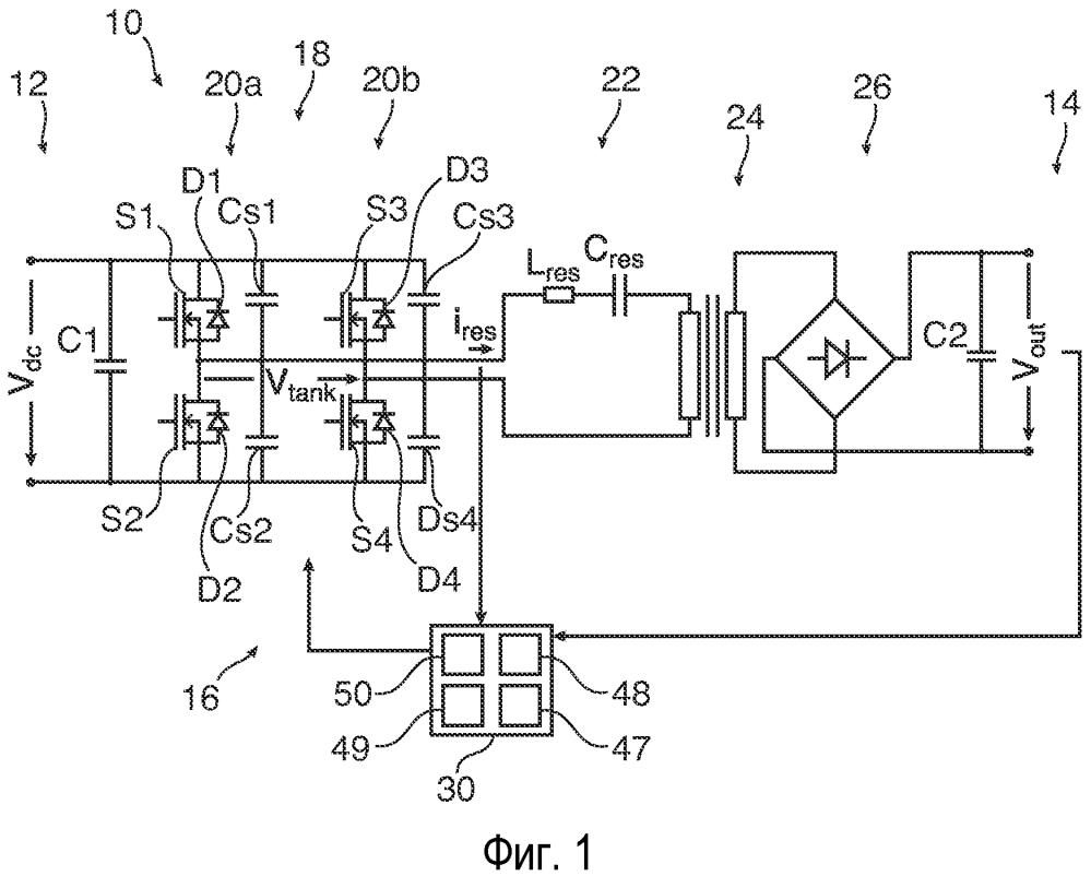 Режимы управления для резонансного преобразователя постоянного тока
