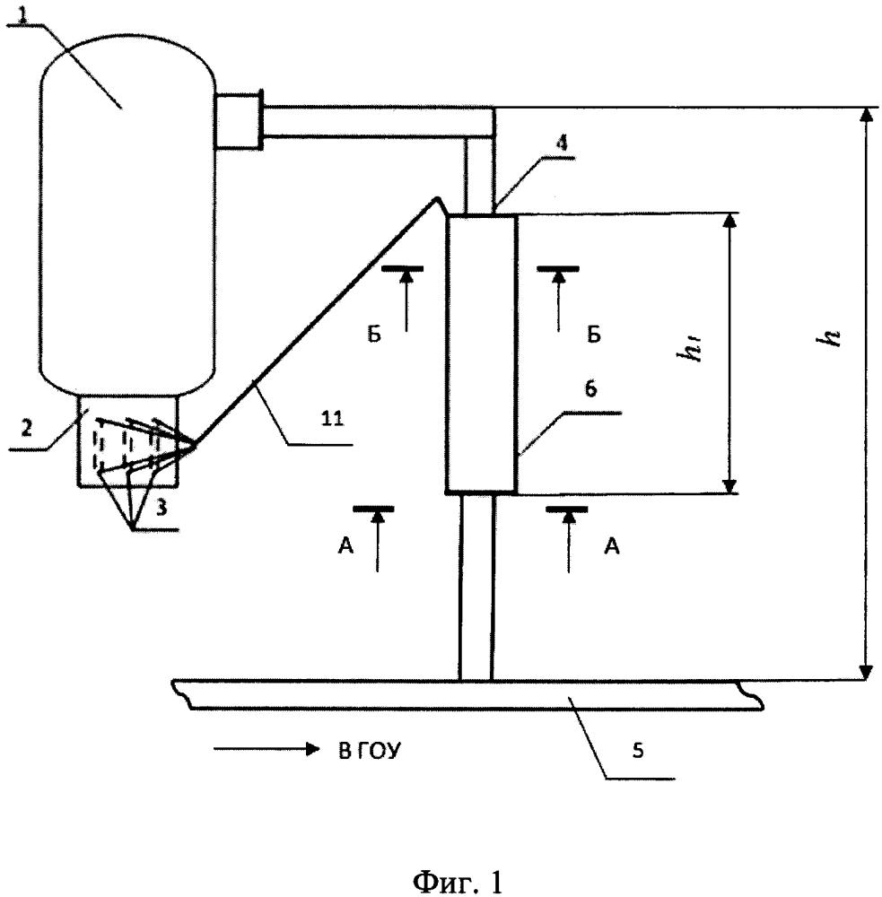 Устройство для дожигания анодных газов алюминиевого электролизера