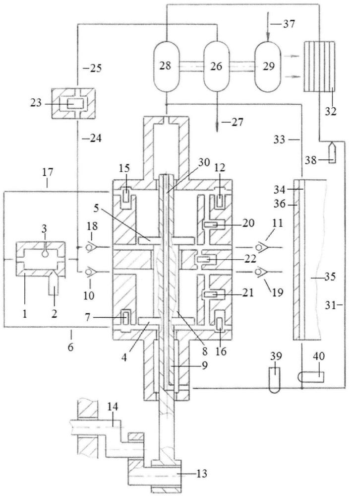 Способ охлаждения поршней, штоков и цилиндра однотактного двигателя с внешней камерой сгорания энергией сжимаемого в компрессорных полостях поршней воздуха