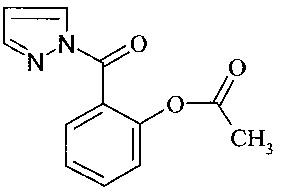 N-(ацетилсалицилоил)пиразол, обладающий церебропротекторным действием при недостаточности мозгового кровообращения