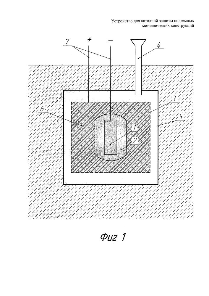 Устройство для катодной защиты подземных металлических конструкций