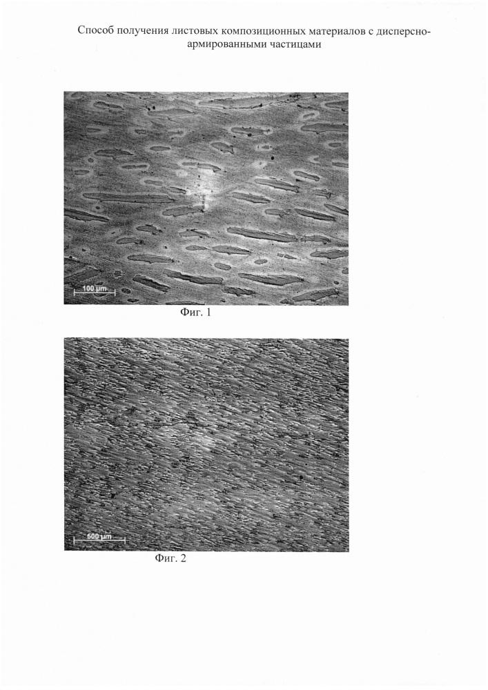 Способ получения листовых композиционных материалов с дисперсно-армированными частицами
