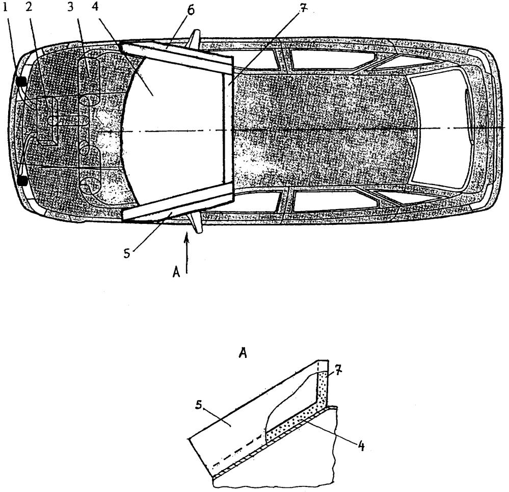 Устройство к автомобилю для защиты водителей двухколёсных транспортных средств