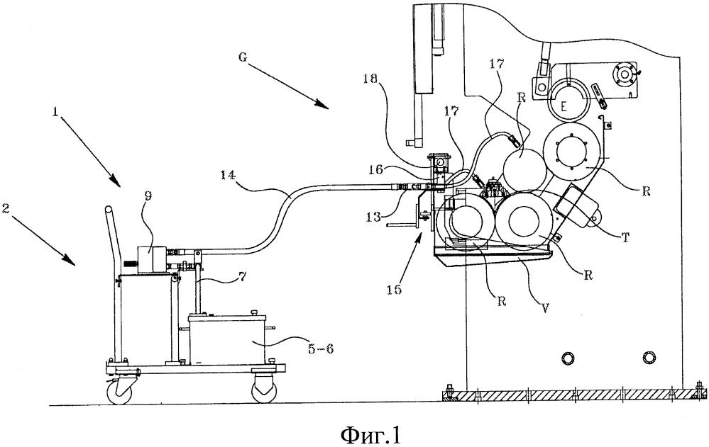 Клеераспределительный узел, снабженный устройством очистки валиков