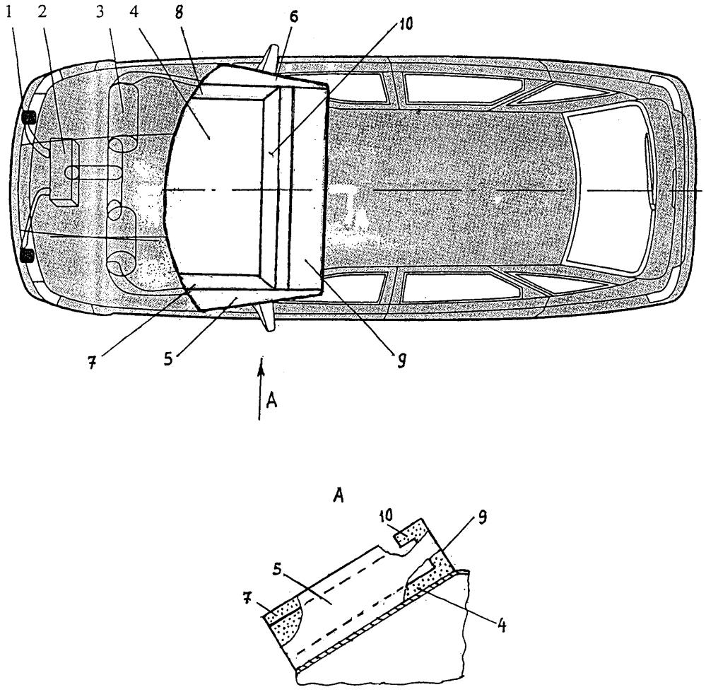 Пассивное устройство для повышения безопасности автомобиля