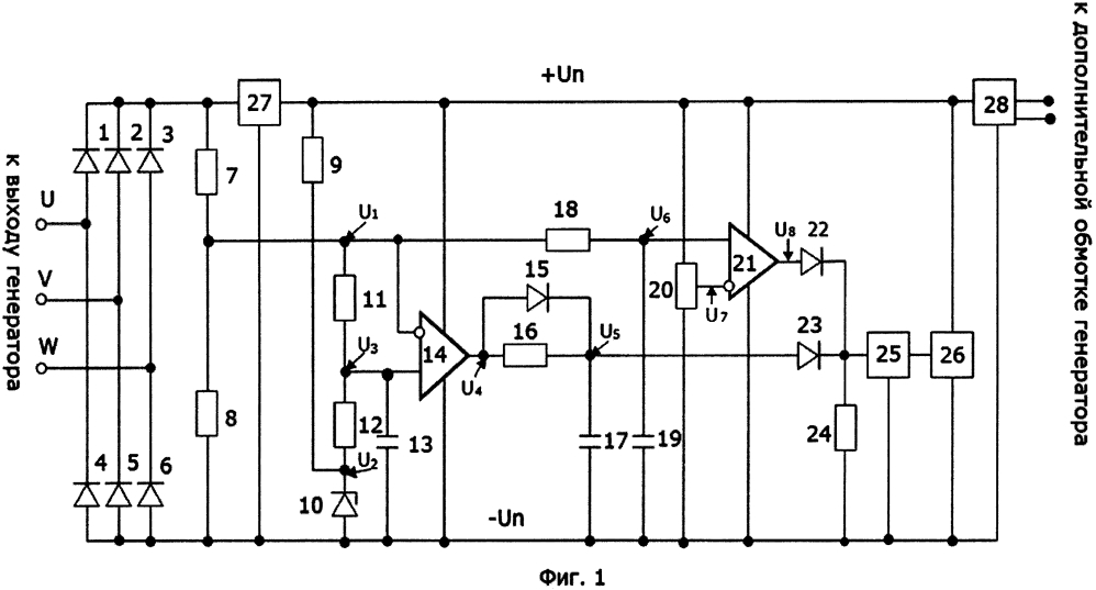 Устройство для защиты генератора синхронного