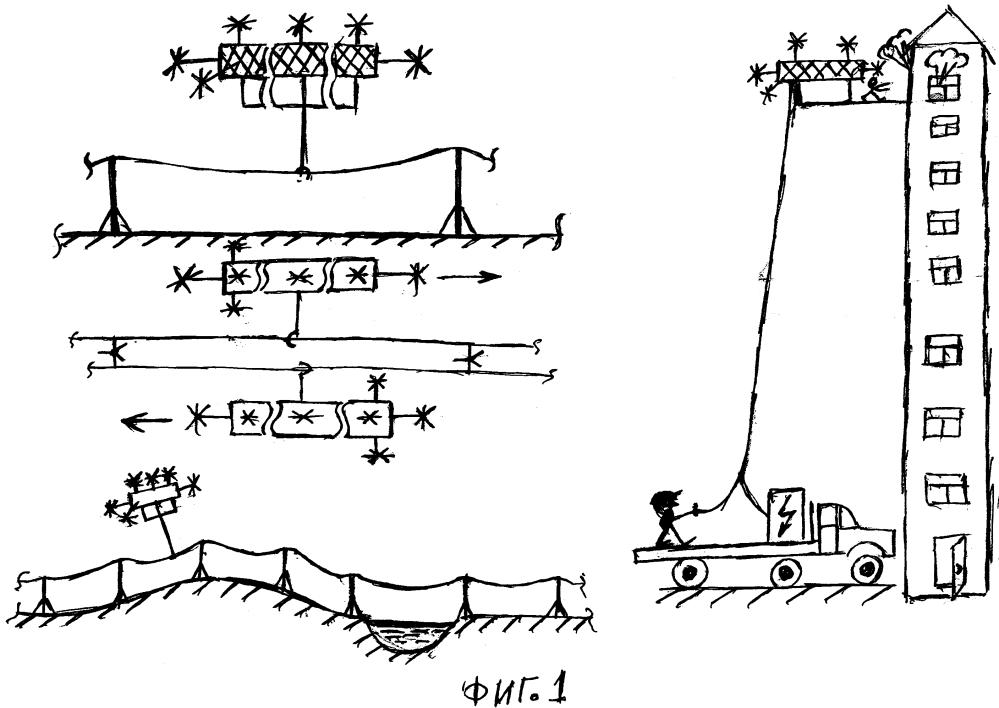 Способ перемещения грузов модулем жужар