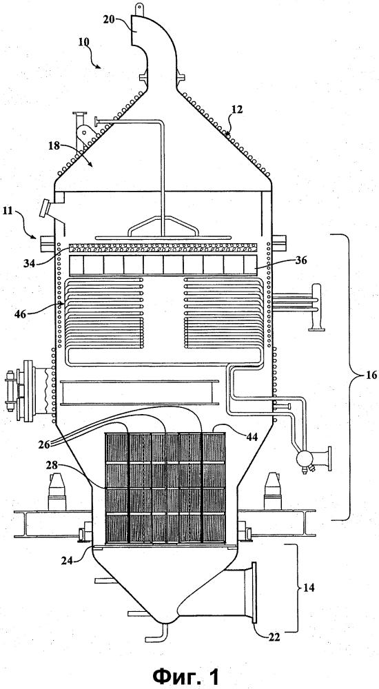 Реактор для окисления аммиака с внутренним фильтровальным элементом