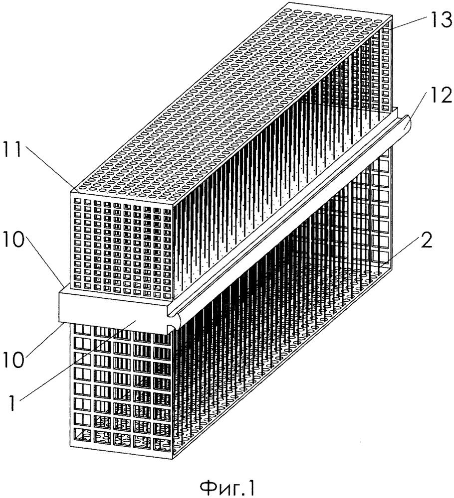 Сердечник рекуперативного противоточного теплообменника (варианты)