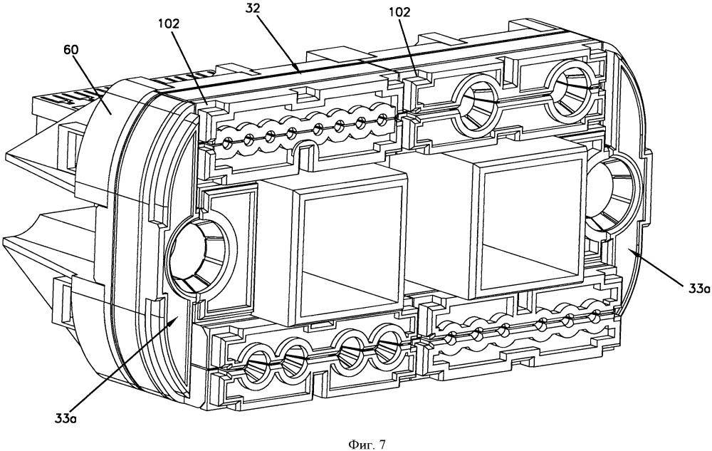 Устройство концевой заделки кабеля с несколькими герметизирующими модулями