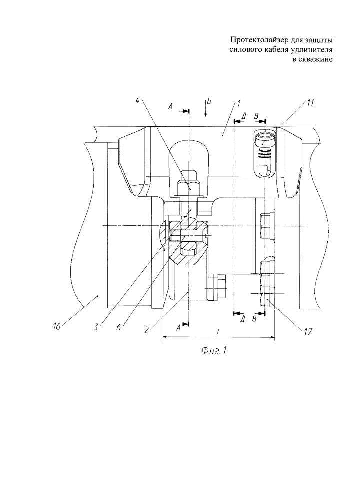 Протектолайзер универсальный для защиты силового кабеля удлинителя в скважине