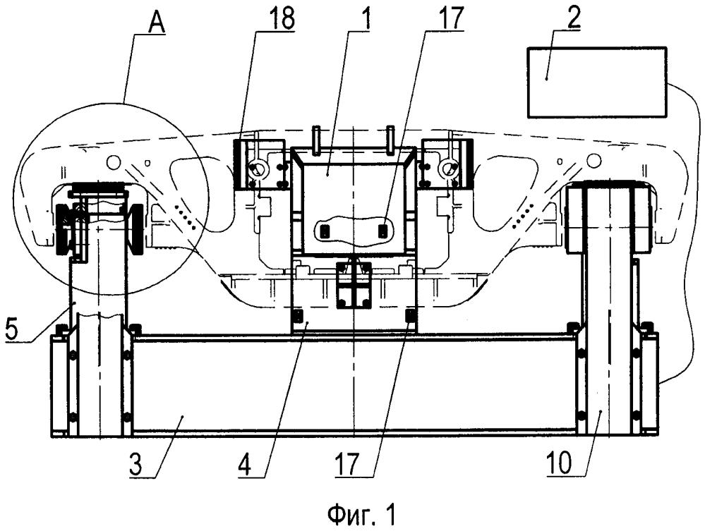 Стенд испытаний боковых рам тележек железнодорожного подвижного состава