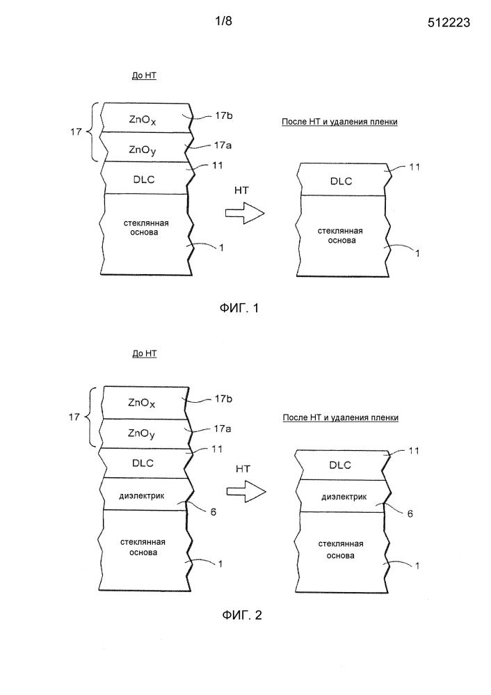 Способ получения термообработанных изделий с покрытием с использованием покрытия из алмазоподобного углерода (dlc) и защитной пленки направленной кислотной поверхности