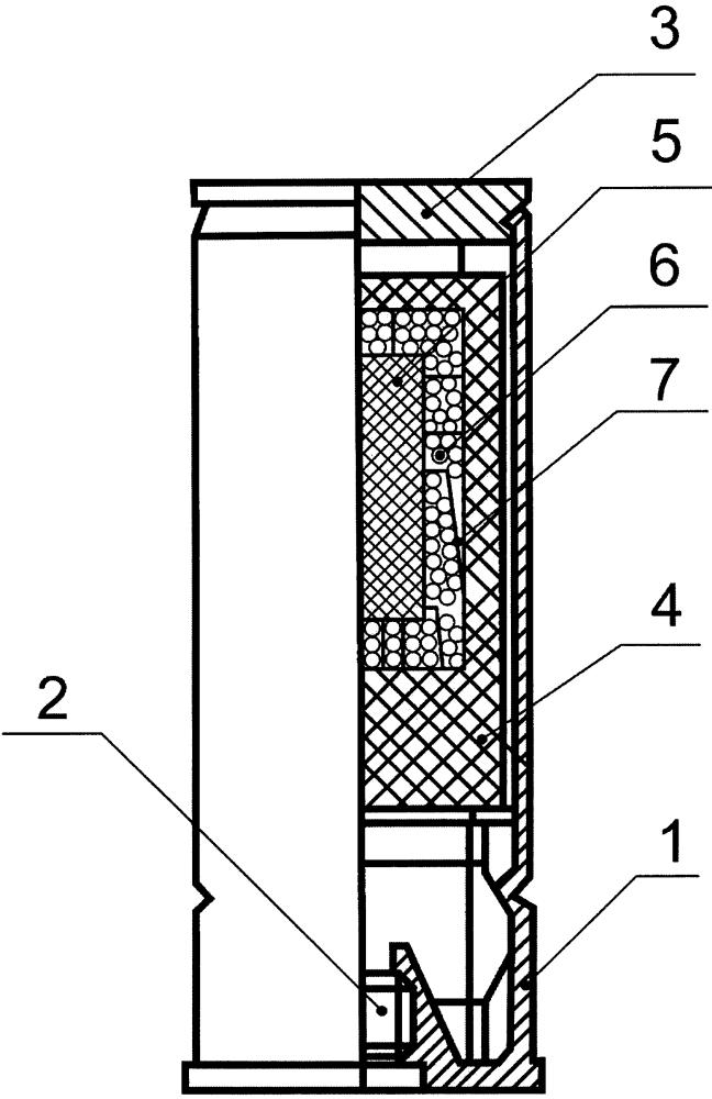 Пиротехнический патрон инфракрасного излучения