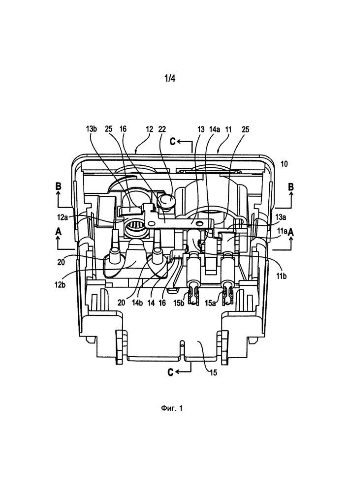 Гнездовой модуль и содержащий его электрохирургический прибор