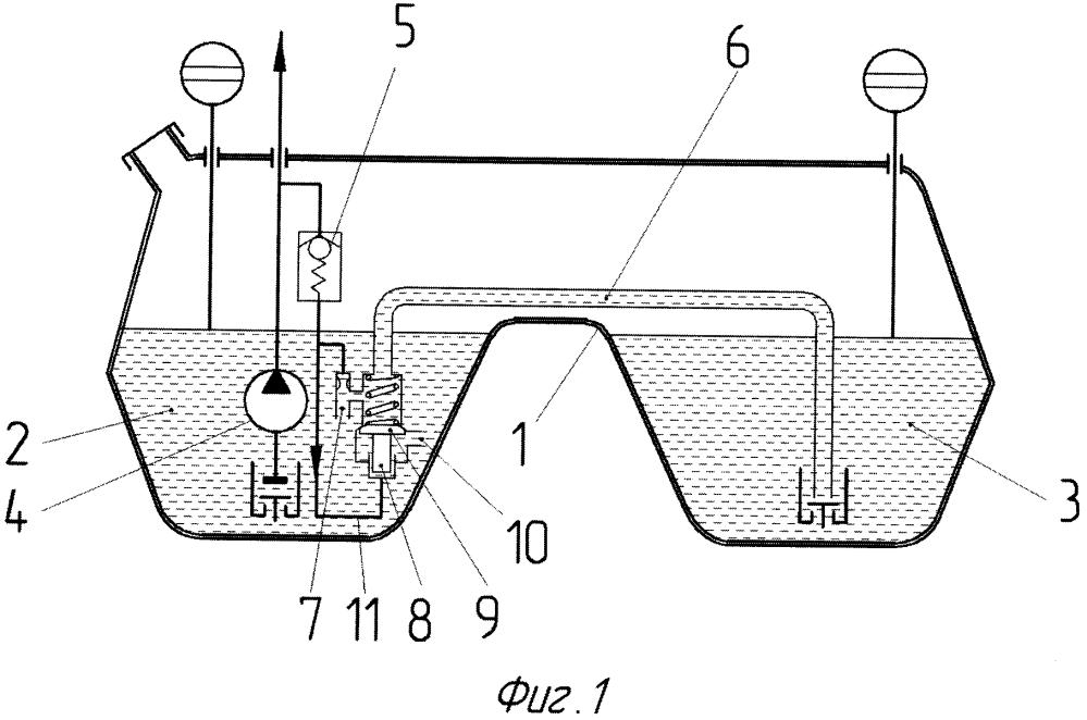 Двухкамерный топливный бак