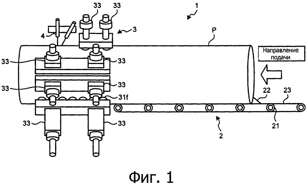 Контроллер коррекции смещения и способ управления коррекцией смещения в агрегате непрерывной сварки прихваточным швом
