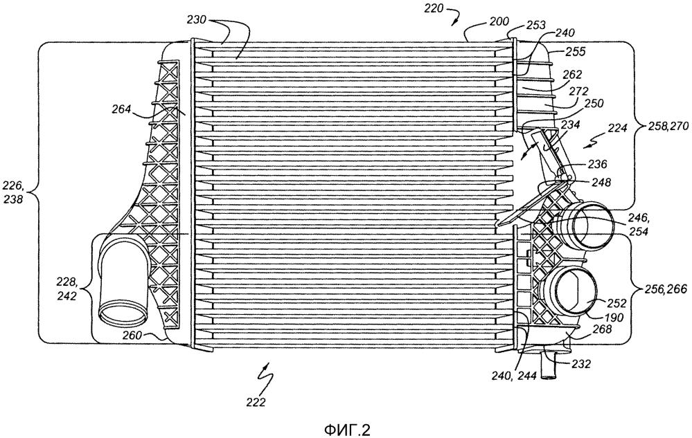 Охлаждающее устройство наддувочного воздуха и способ работы охладителя наддувочного воздуха двигателя (варианты)