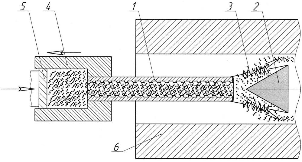 Устройство и способ нанесения сухой смазки на внутреннюю поверхность гильзы