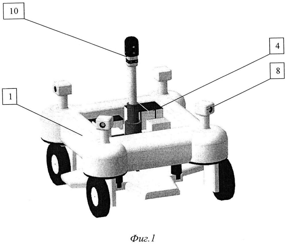 Беспилотный робот для картирования урожайности